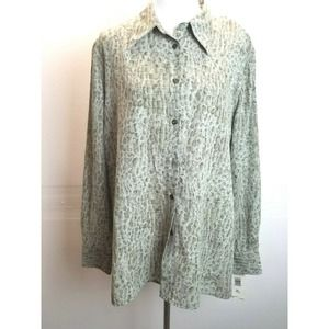 VINTAGE NWT C.L.C Top XL Button Up Animal Print